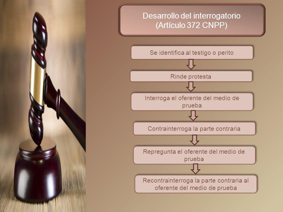 Desarrollo del interrogatorio (Artículo 372 CNPP)