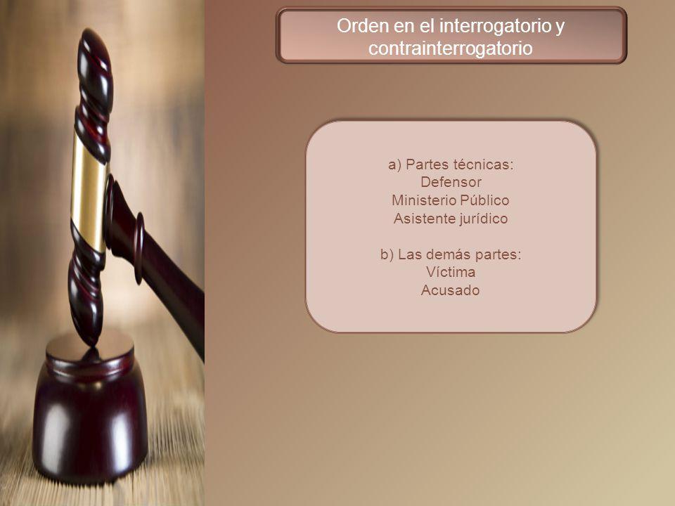 Orden en el interrogatorio y contrainterrogatorio