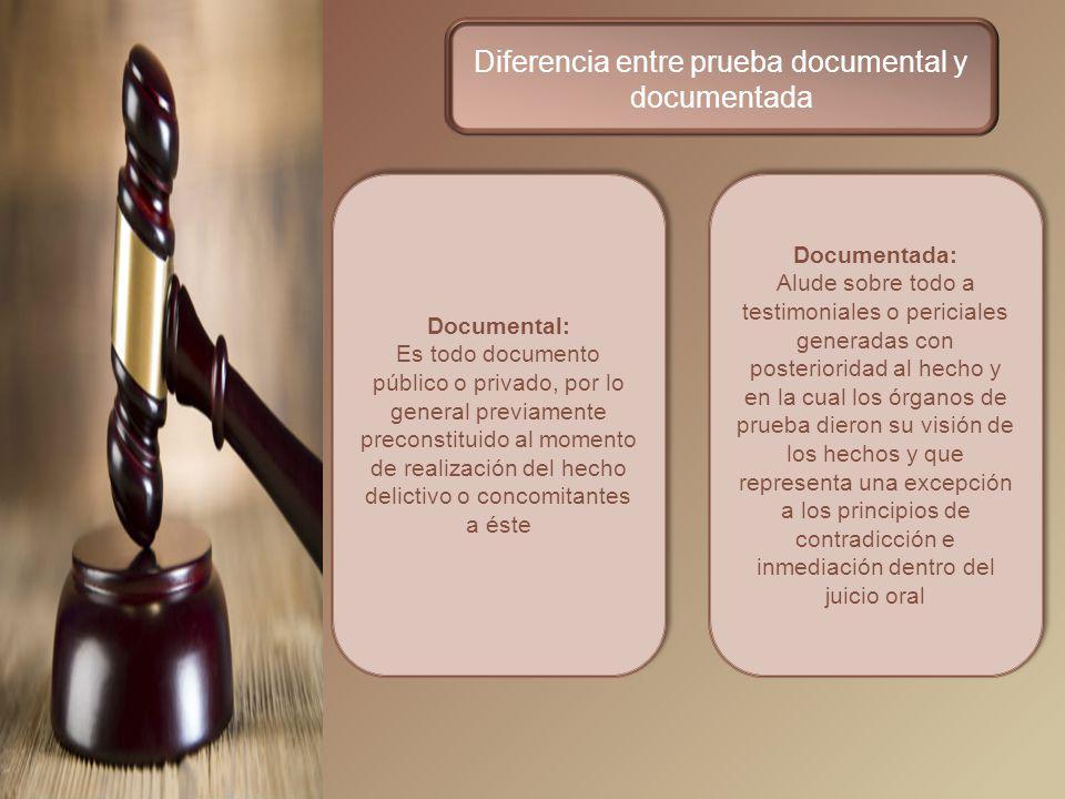 Diferencia entre prueba documental y documentada