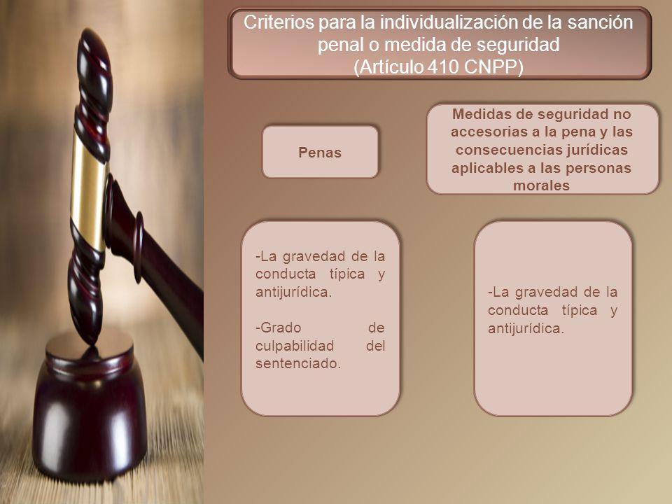 Criterios para la individualización de la sanción penal o medida de seguridad