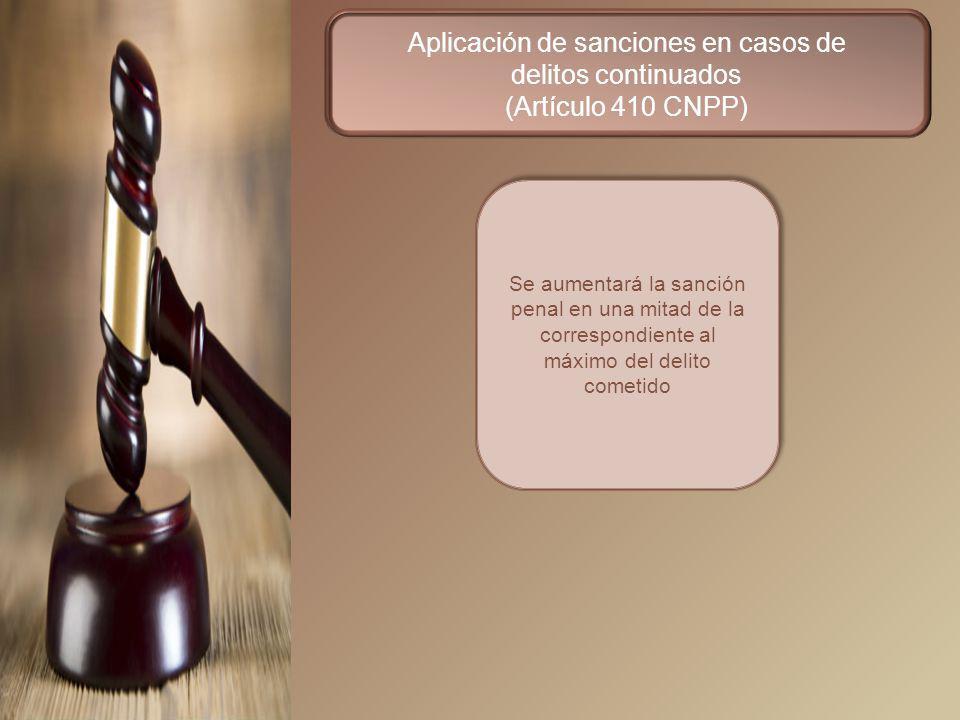 Aplicación de sanciones en casos de