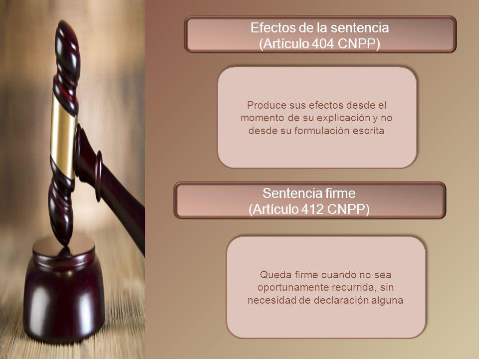 Efectos de la sentencia