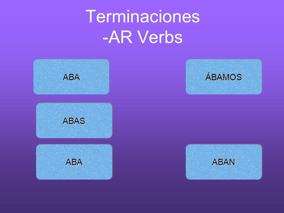 Terminaciones -AR Verbs