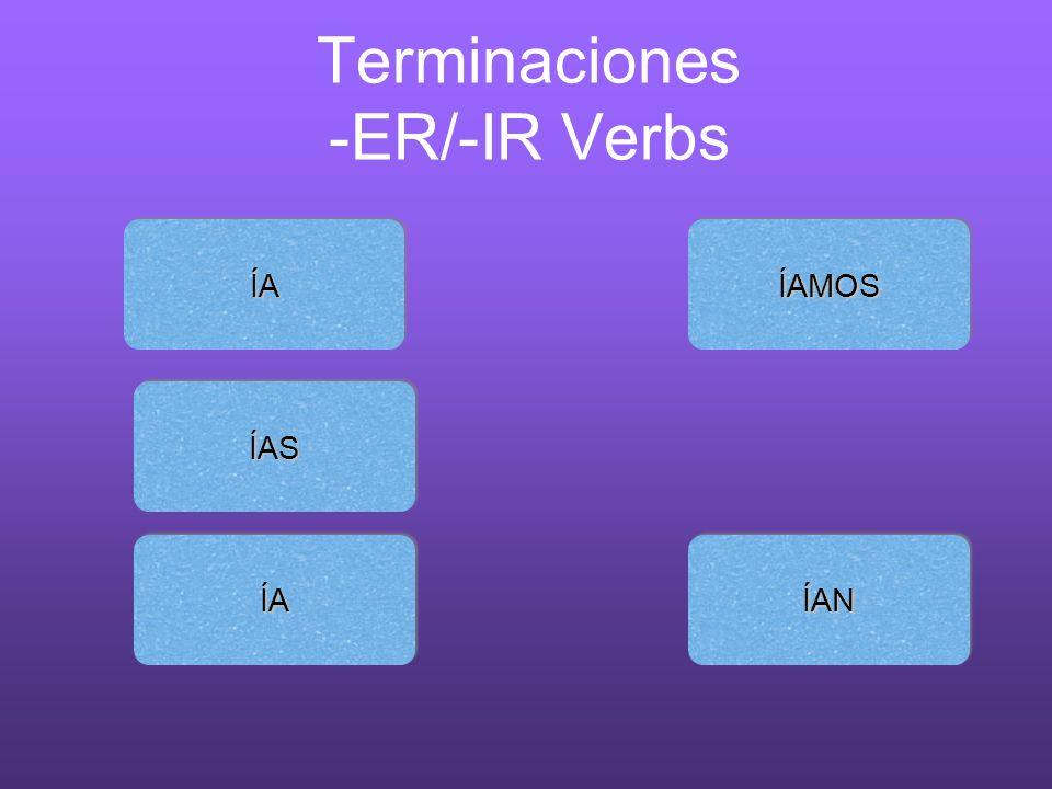 Terminaciones -ER/-IR Verbs