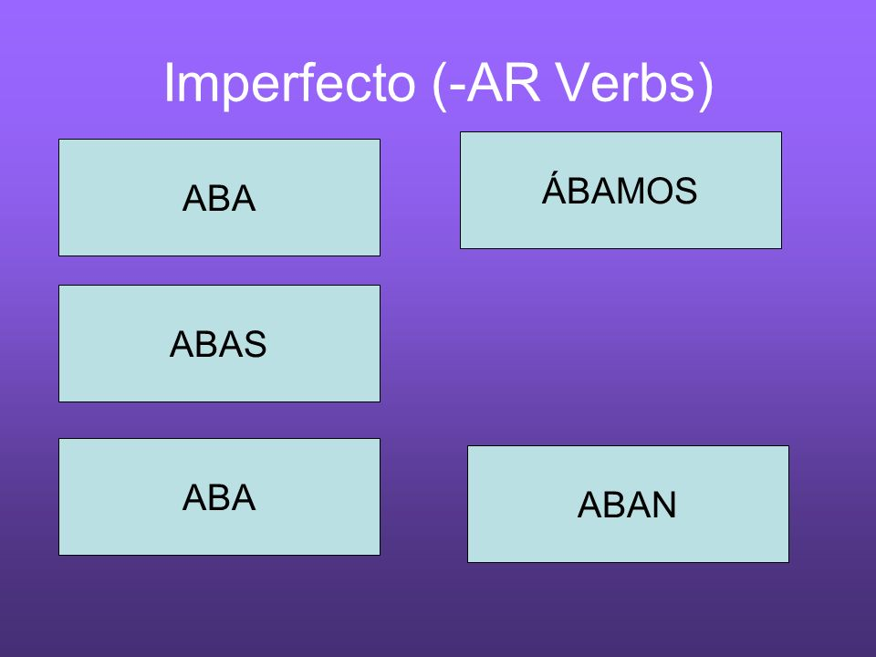 Imperfecto (-AR Verbs)
