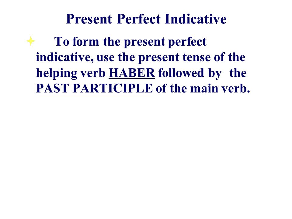 Present Perfect Indicative