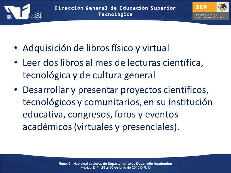 Adquisición de libros físico y virtual