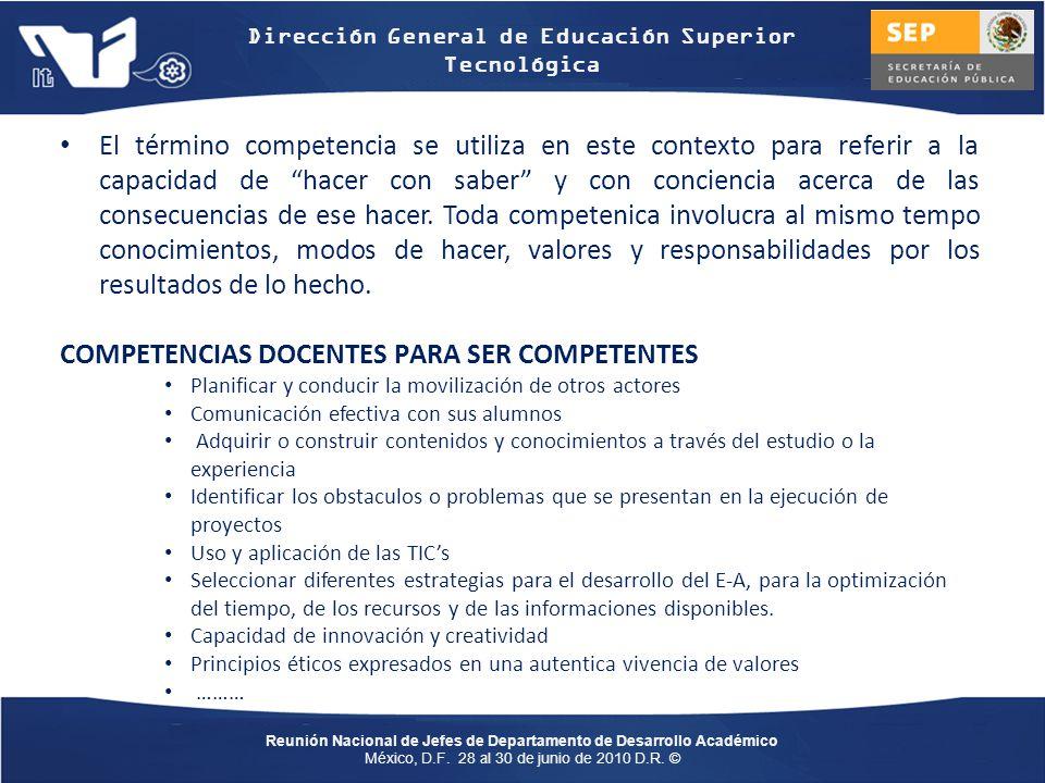 COMPETENCIAS DOCENTES PARA SER COMPETENTES