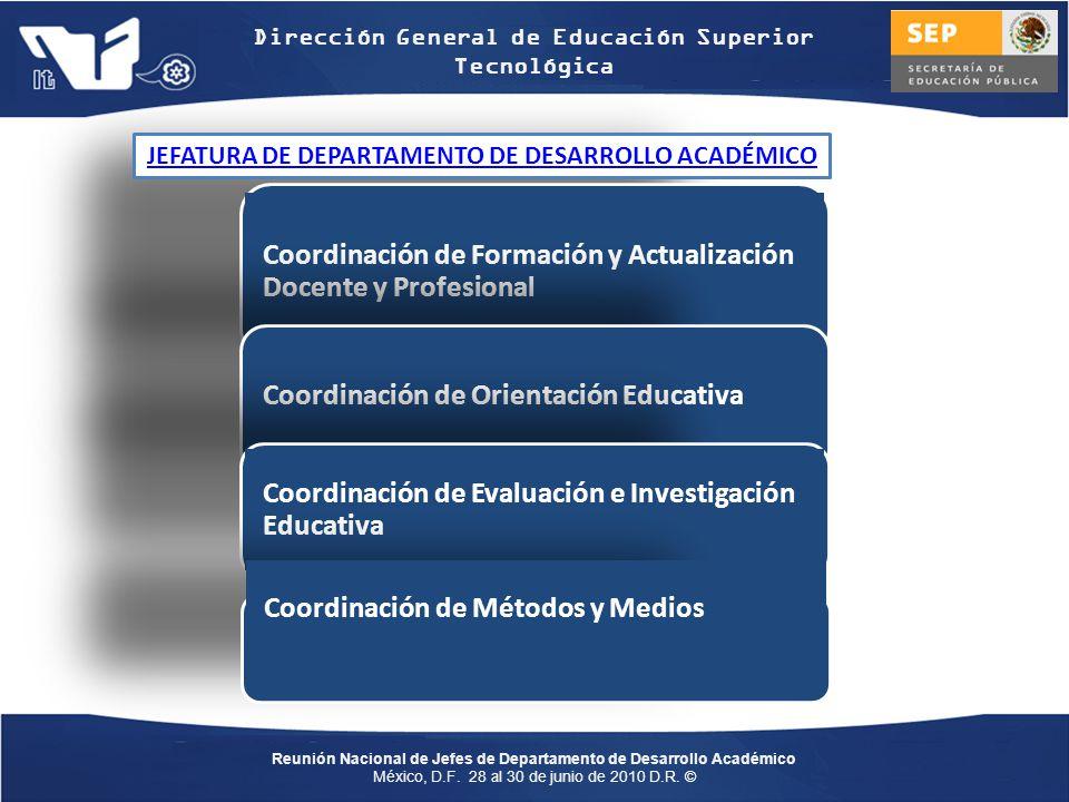 JEFATURA DE DEPARTAMENTO DE DESARROLLO ACADÉMICO