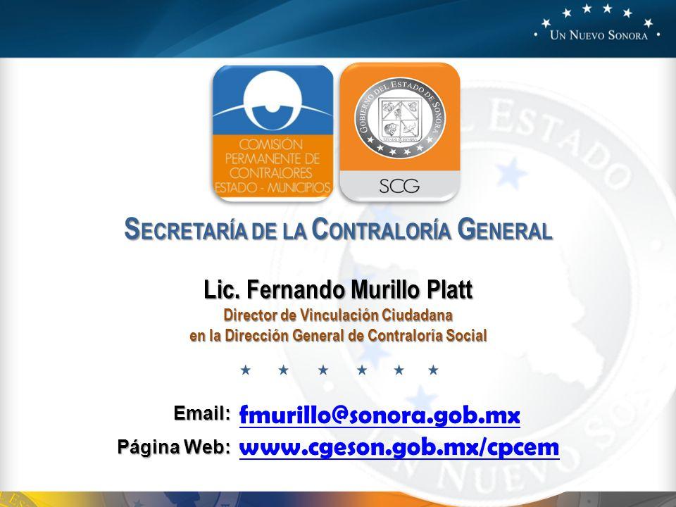 SECRETARÍA DE LA CONTRALORÍA GENERAL Lic