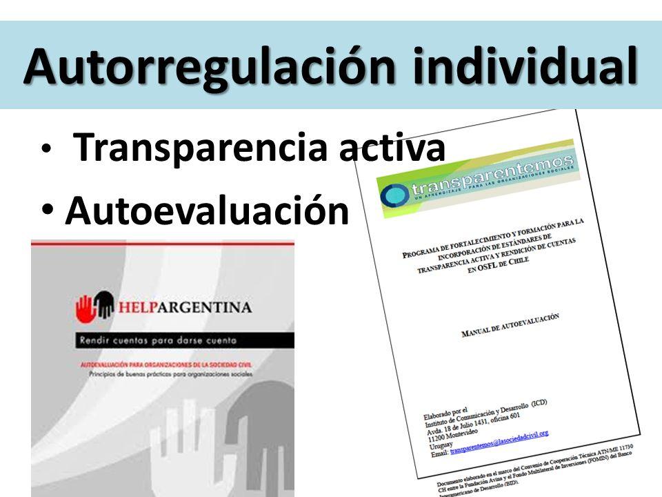 Autorregulación individual