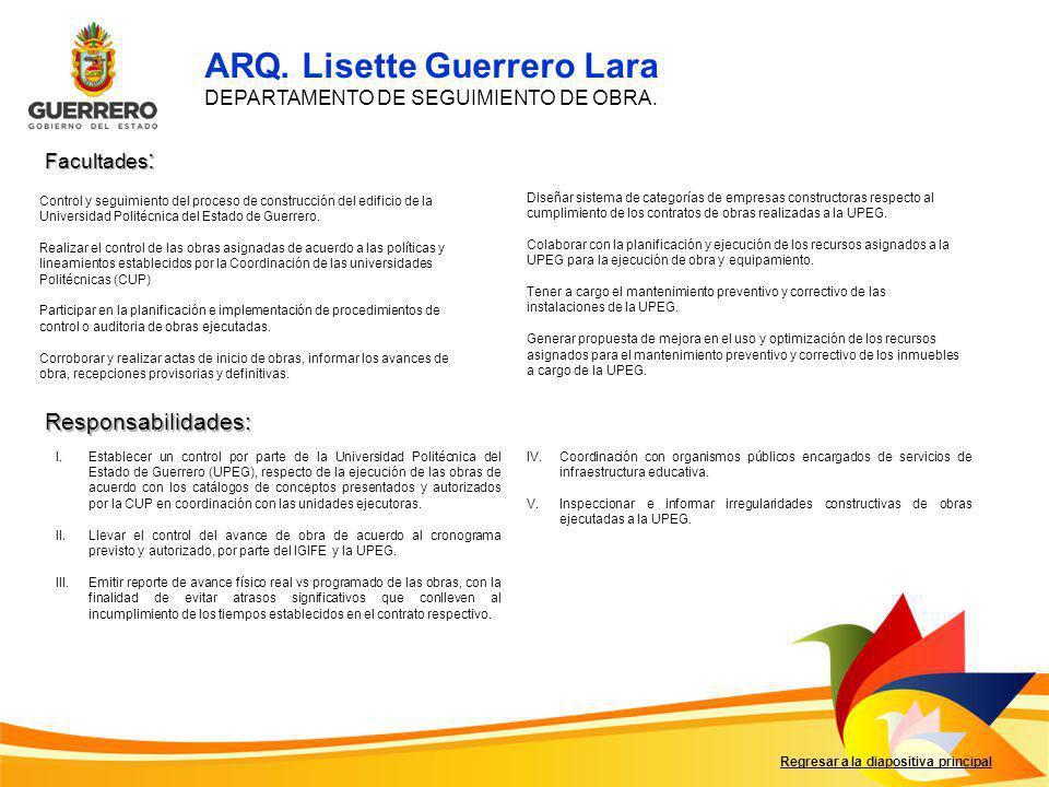 ARQ. Lisette Guerrero Lara