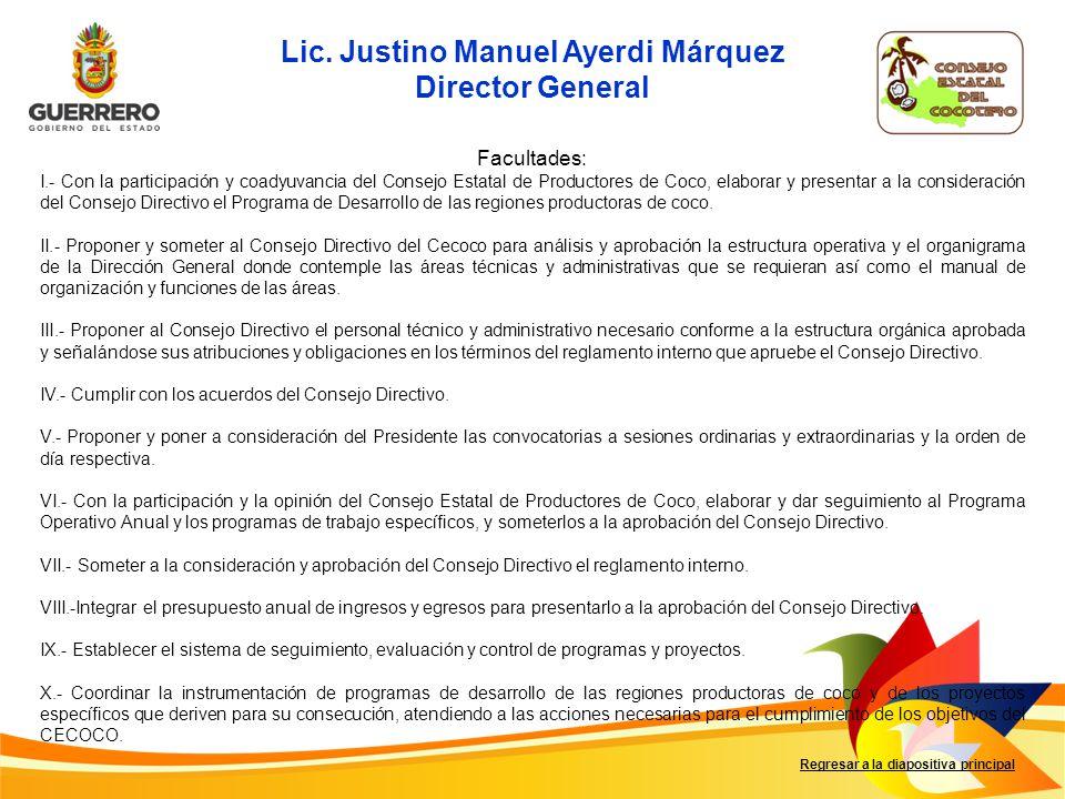 Lic. Justino Manuel Ayerdi Márquez