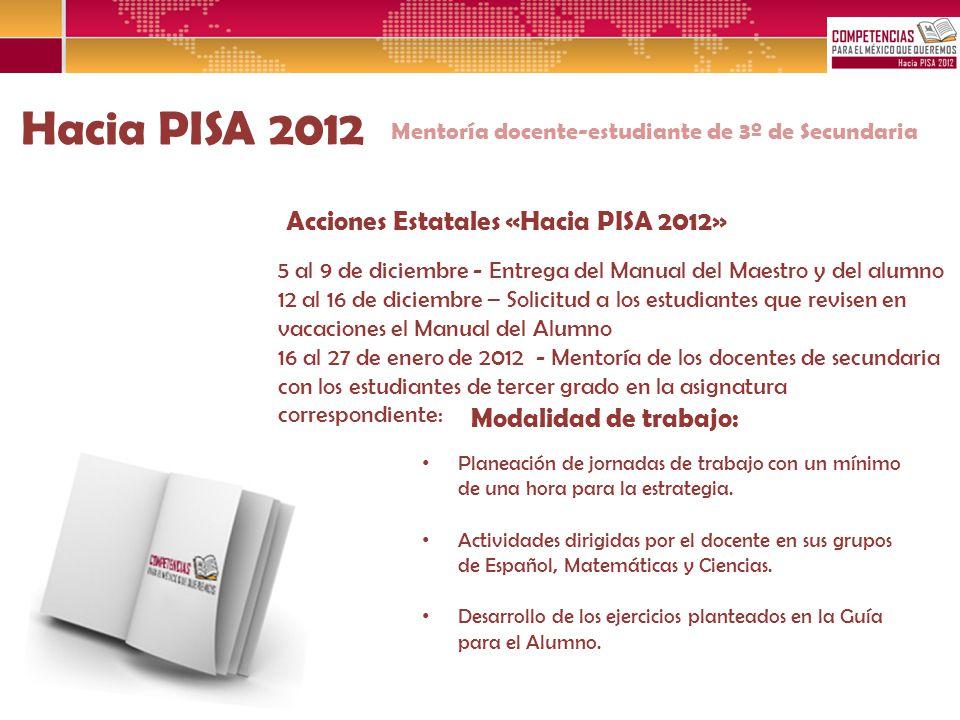 Hacia PISA 2012 Acciones Estatales «Hacia PISA 2012»