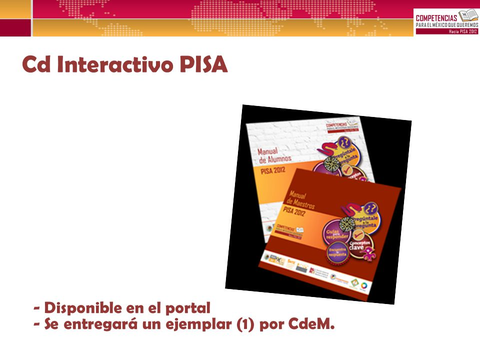 Cd Interactivo PISA - Disponible en el portal