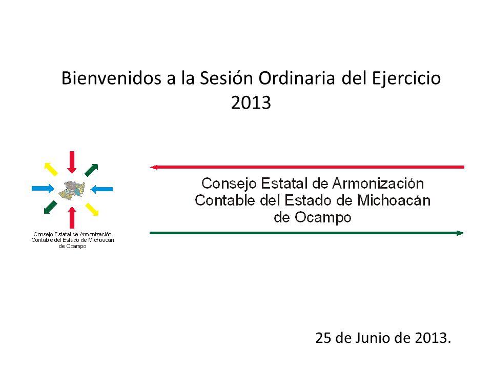 Bienvenidos a la Sesión Ordinaria del Ejercicio 2013