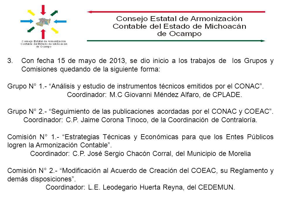 Coordinador: M.C Giovanni Méndez Alfaro, de CPLADE.