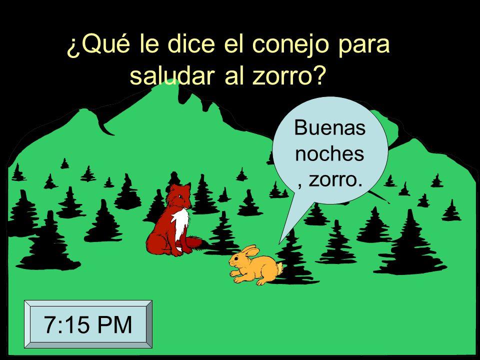 ¿Qué le dice el conejo para saludar al zorro