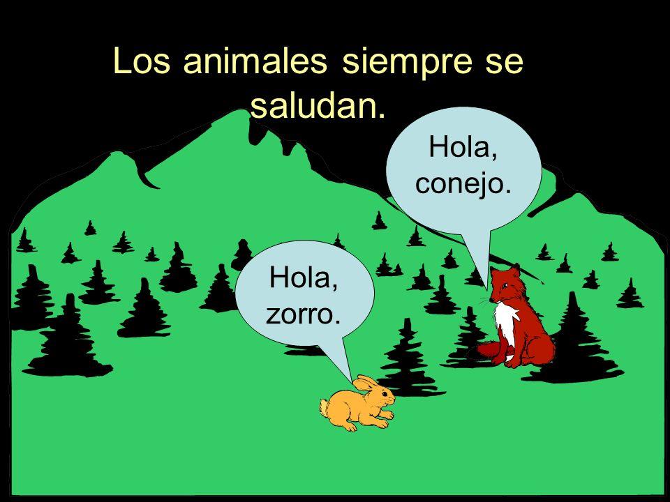 Los animales siempre se saludan.