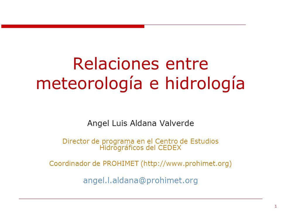 Relaciones entre meteorología e hidrología