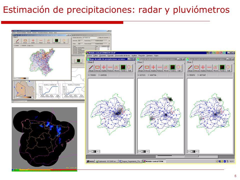 Estimación de precipitaciones: radar y pluviómetros