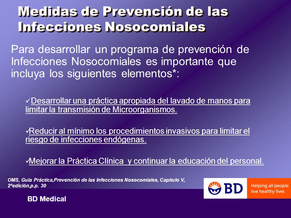 Medidas de Prevención de las Infecciones Nosocomiales