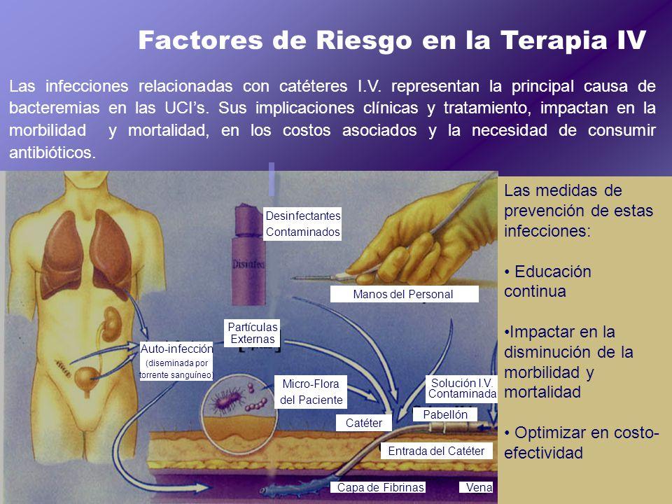 Factores de Riesgo en la Terapia IV