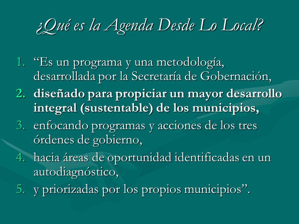 ¿Qué es la Agenda Desde Lo Local