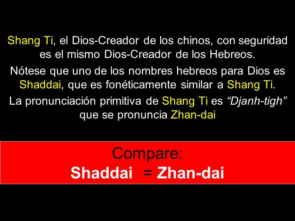 Compare: Shaddai = Zhan-dai