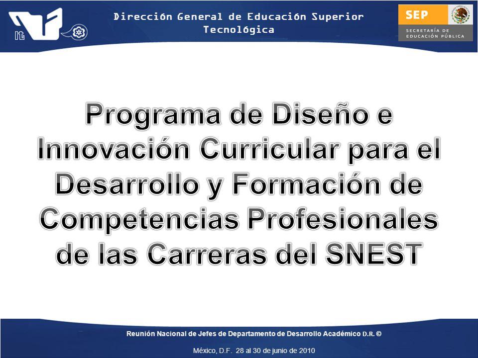 Programa de Diseño e Innovación Curricular para el Desarrollo y Formación de Competencias Profesionales de las Carreras del SNEST