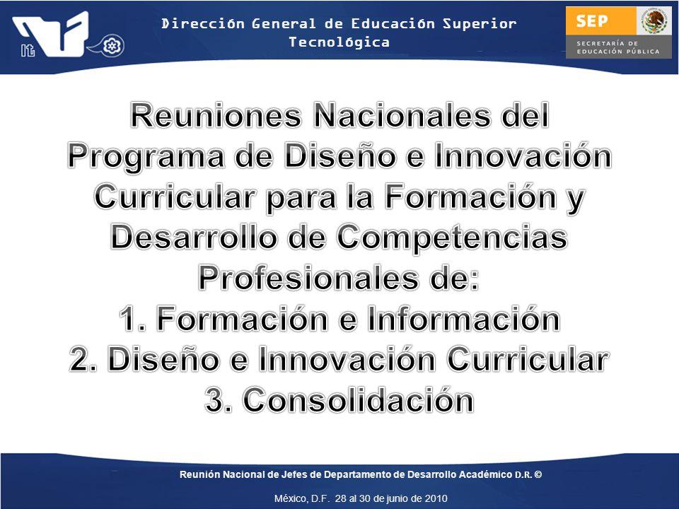 1. Formación e Información 2. Diseño e Innovación Curricular