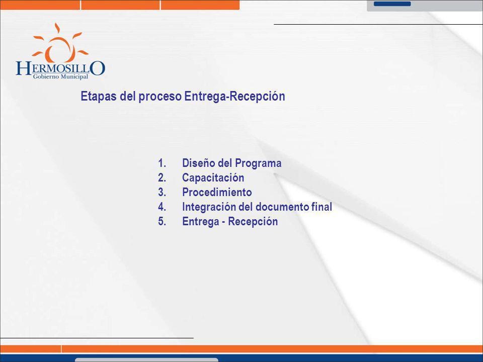 Etapas del proceso Entrega-Recepción