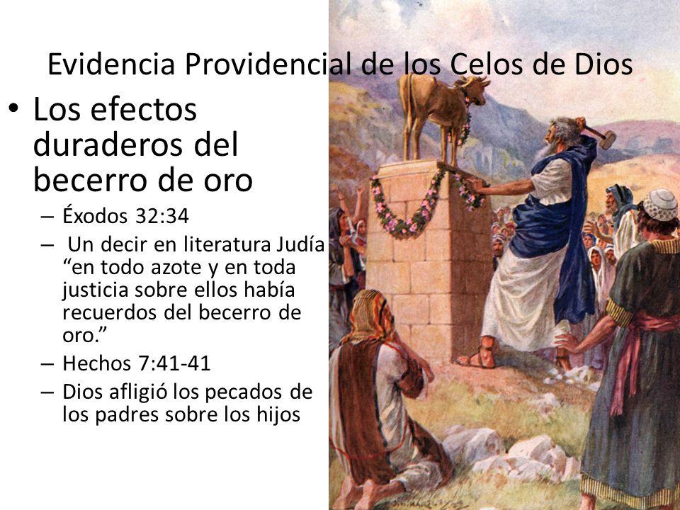 Evidencia Providencial de los Celos de Dios