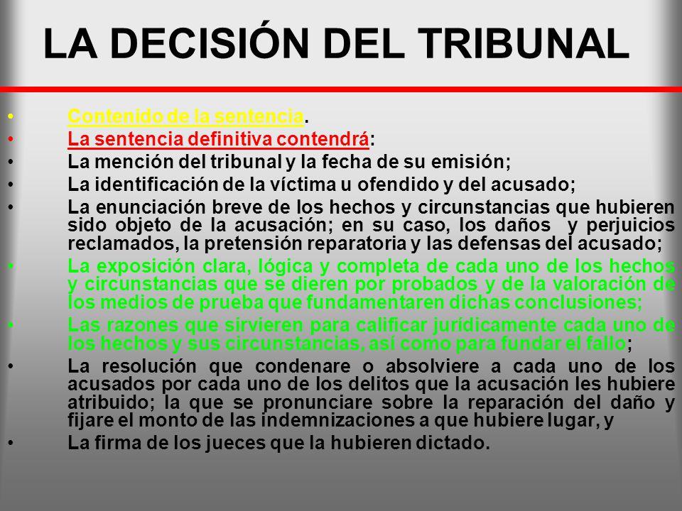 LA DECISIÓN DEL TRIBUNAL