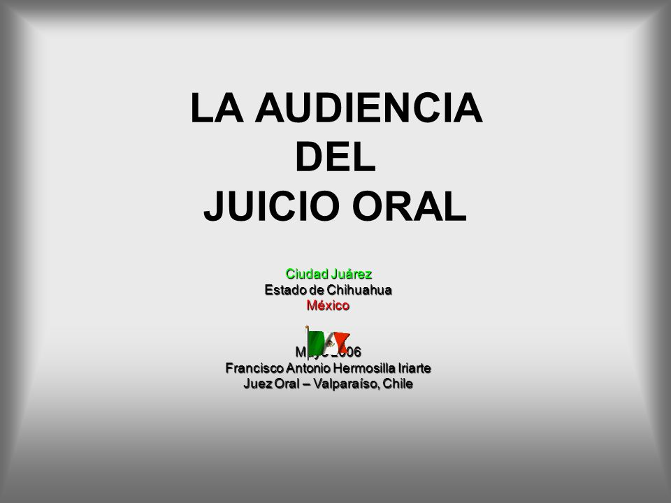 LA AUDIENCIA DEL JUICIO ORAL
