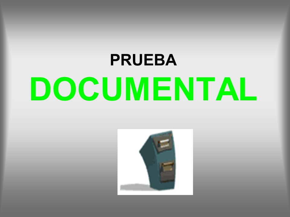 PRUEBA DOCUMENTAL