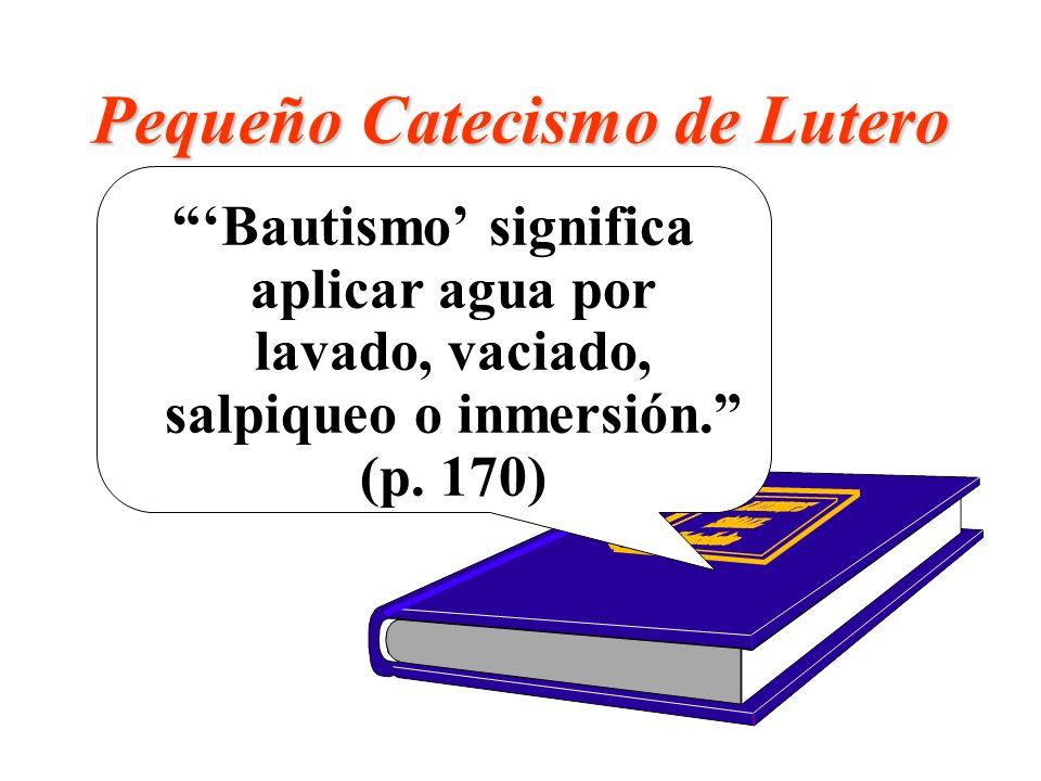 Pequeño Catecismo de Lutero