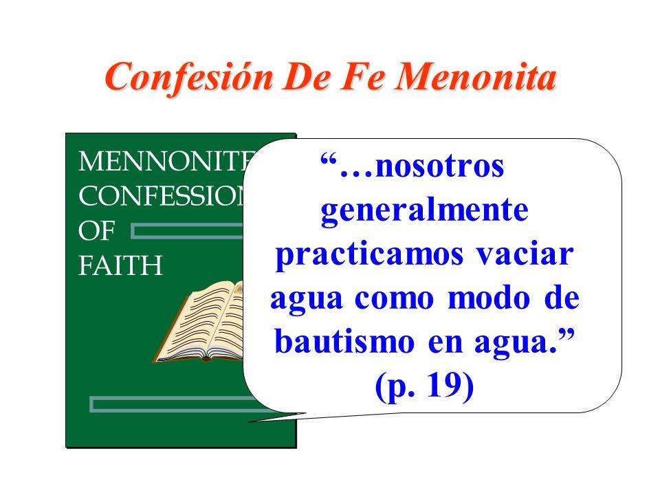 Confesión De Fe Menonita