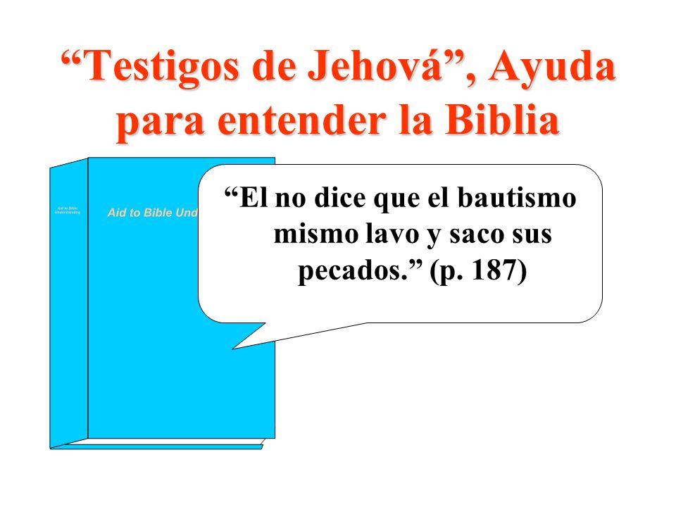 Testigos de Jehová , Ayuda para entender la Biblia