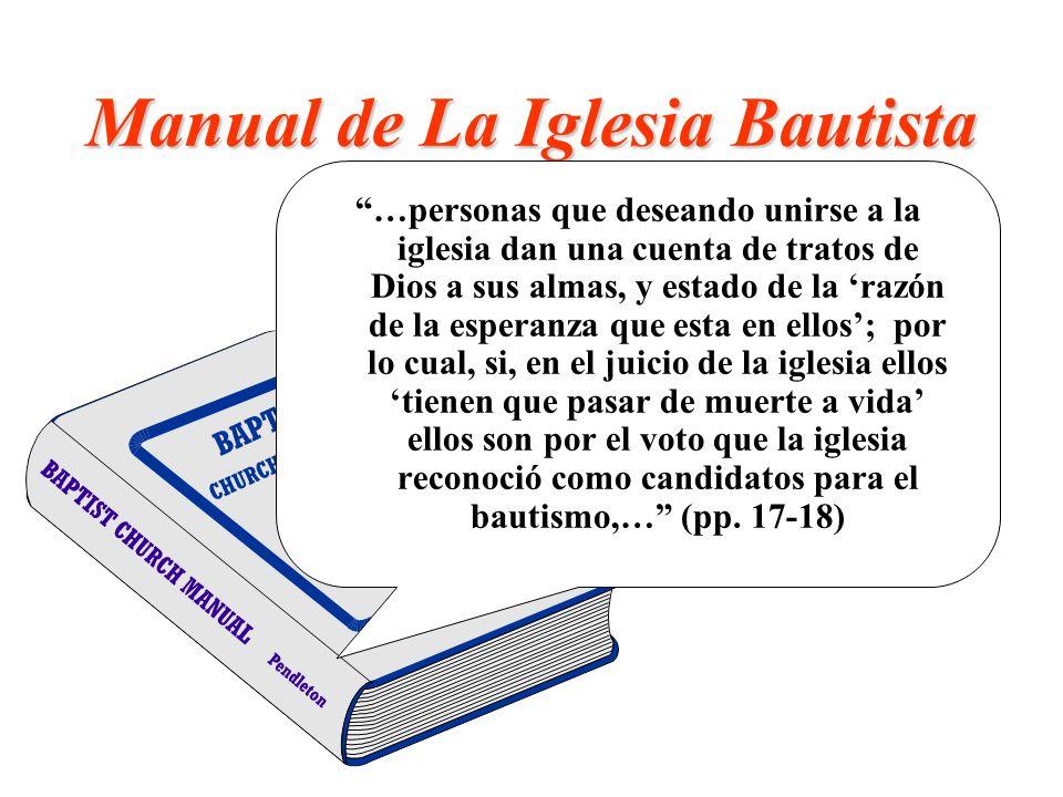 Manual de La Iglesia Bautista