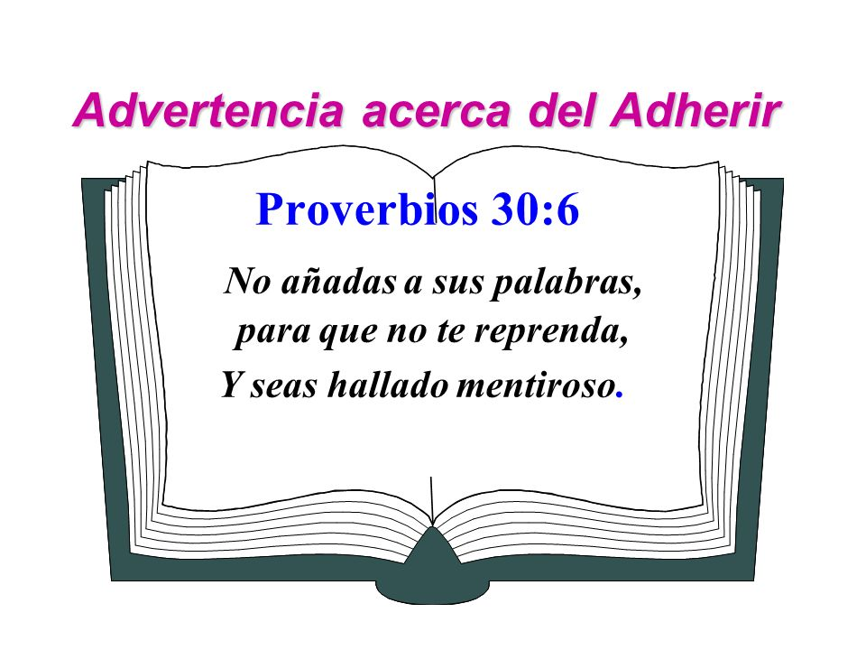 Advertencia acerca del Adherir