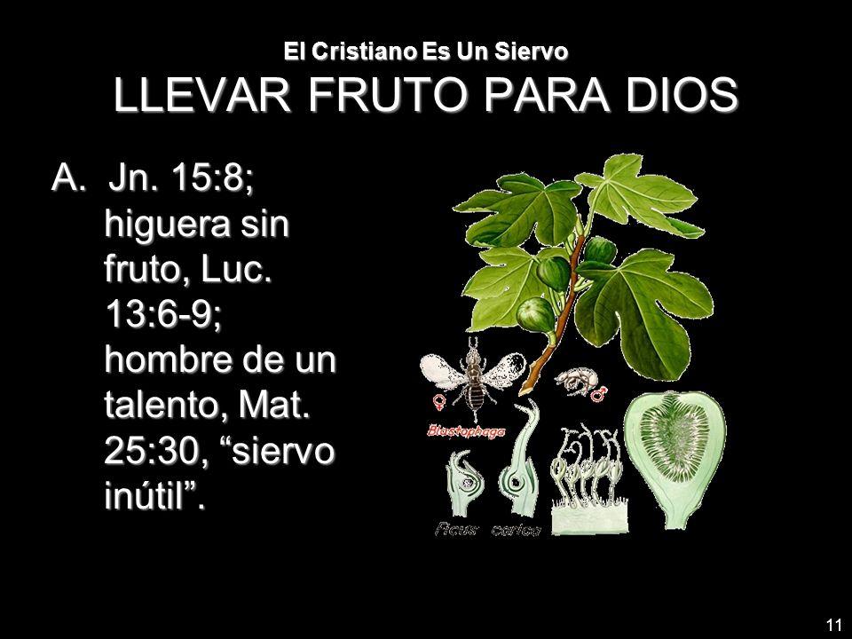 El Cristiano Es Un Siervo LLEVAR FRUTO PARA DIOS