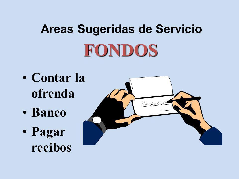 Areas Sugeridas de Servicio