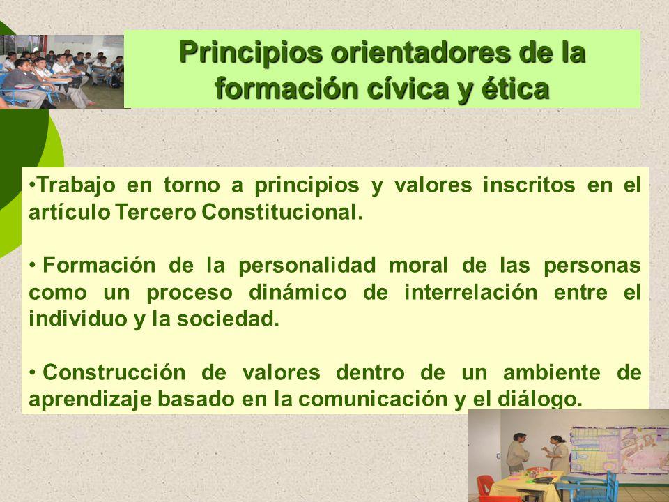 Principios orientadores de la formación cívica y ética