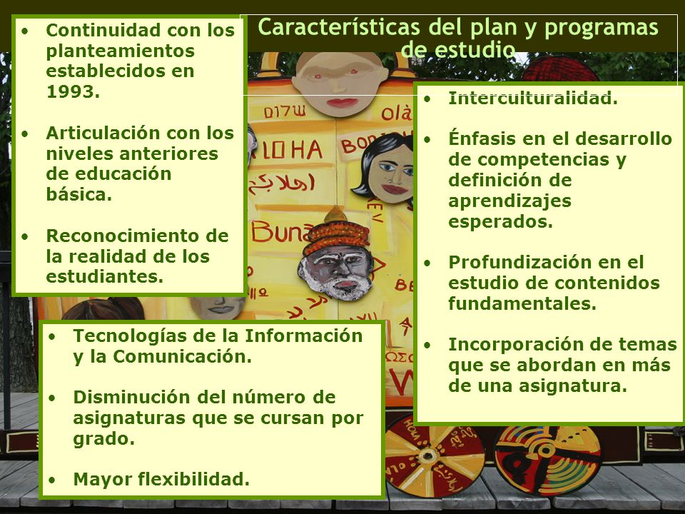 Características del plan y programas de estudio