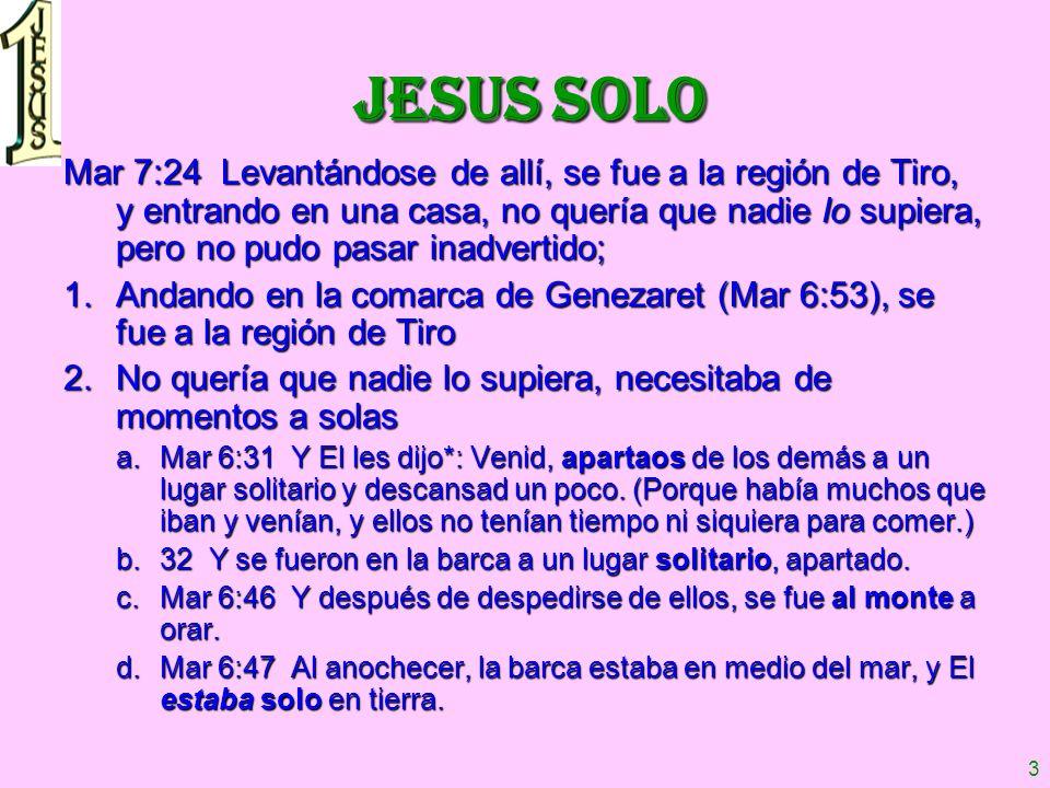 JESUS SOLO