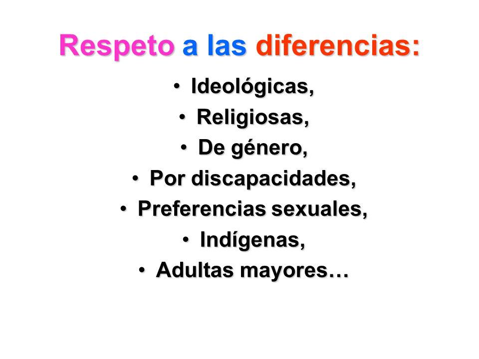 Respeto a las diferencias: