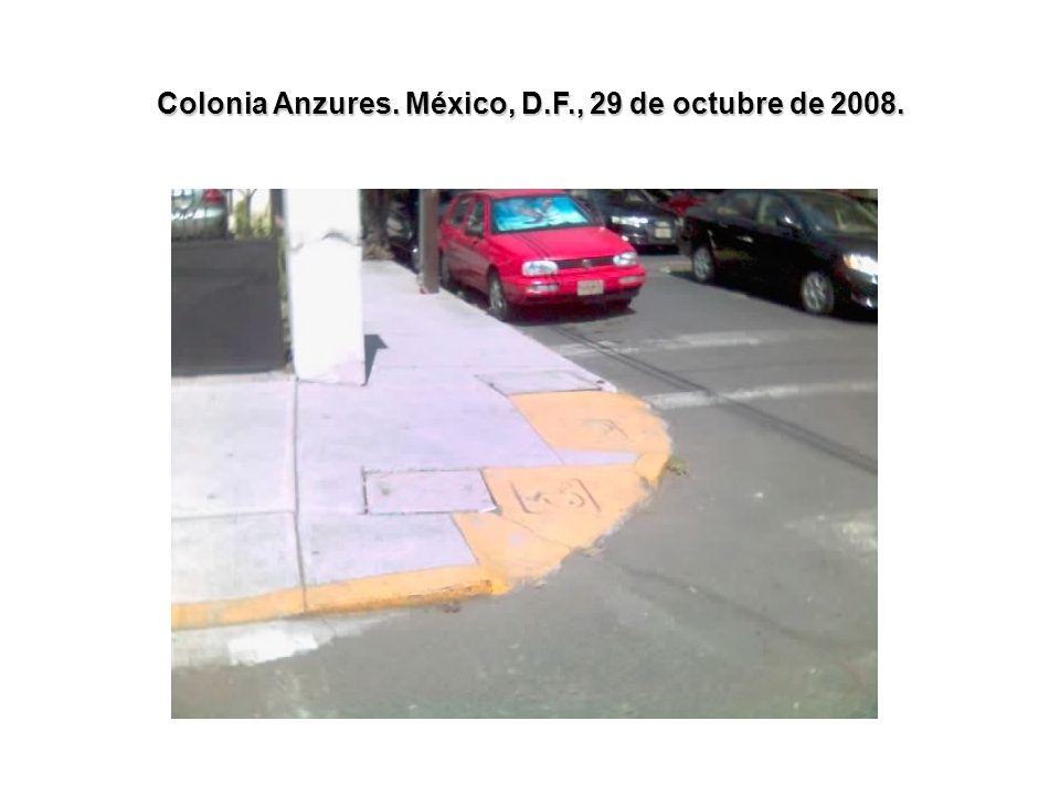 Colonia Anzures. México, D.F., 29 de octubre de 2008.