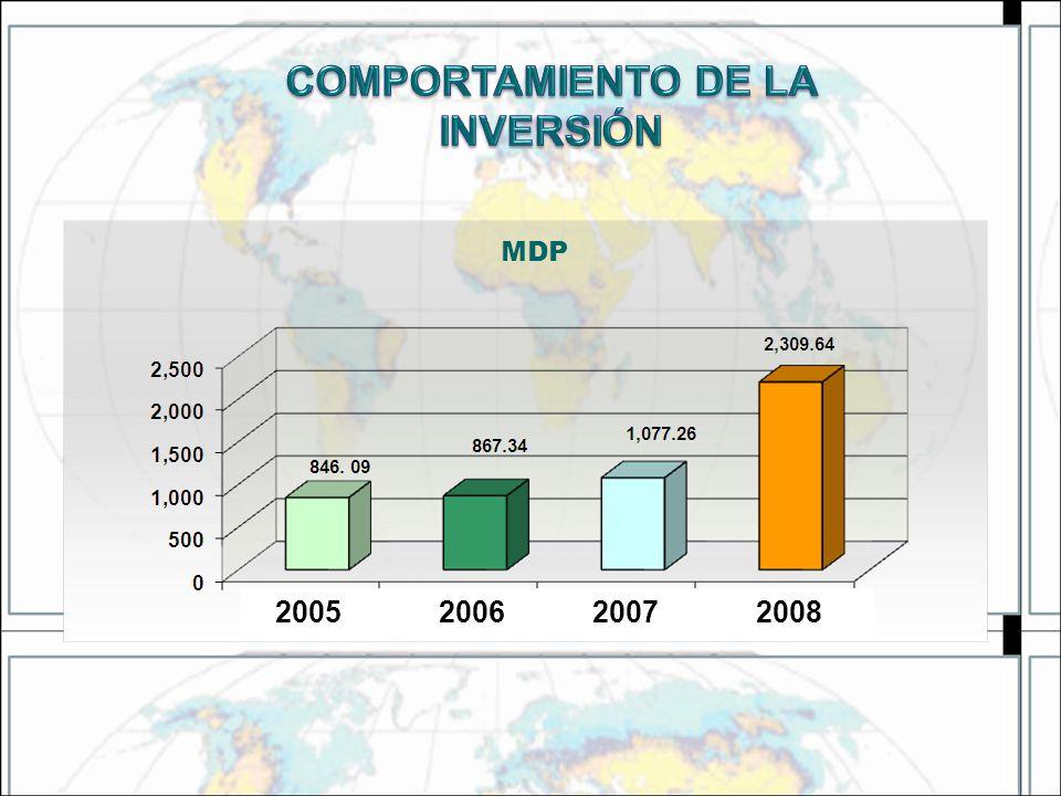 COMPORTAMIENTO DE LA INVERSIÓN