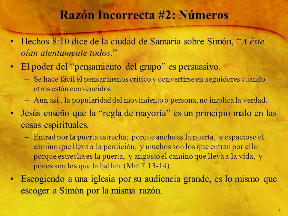 Razón Incorrecta #2: Números